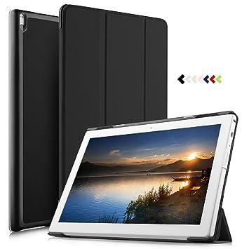 IVSO Lenovo Tab 4 10 Plus Funda, Lenovo Tab 4 10 Plus Cubierta de Cuero Estuches Fundas Carcasa para Lenovo Tab 4 10 Plus (Negro)
