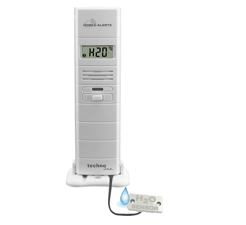Mobile Alerts MA 10350 3 in 1 - Thermo-Hygrosensor und Wasserdetektor in einem, weiß + MA 10001 Starter Set Hausüberwachungssystem, weiß, 4 x 2,5 x 10,3 cm Technoline