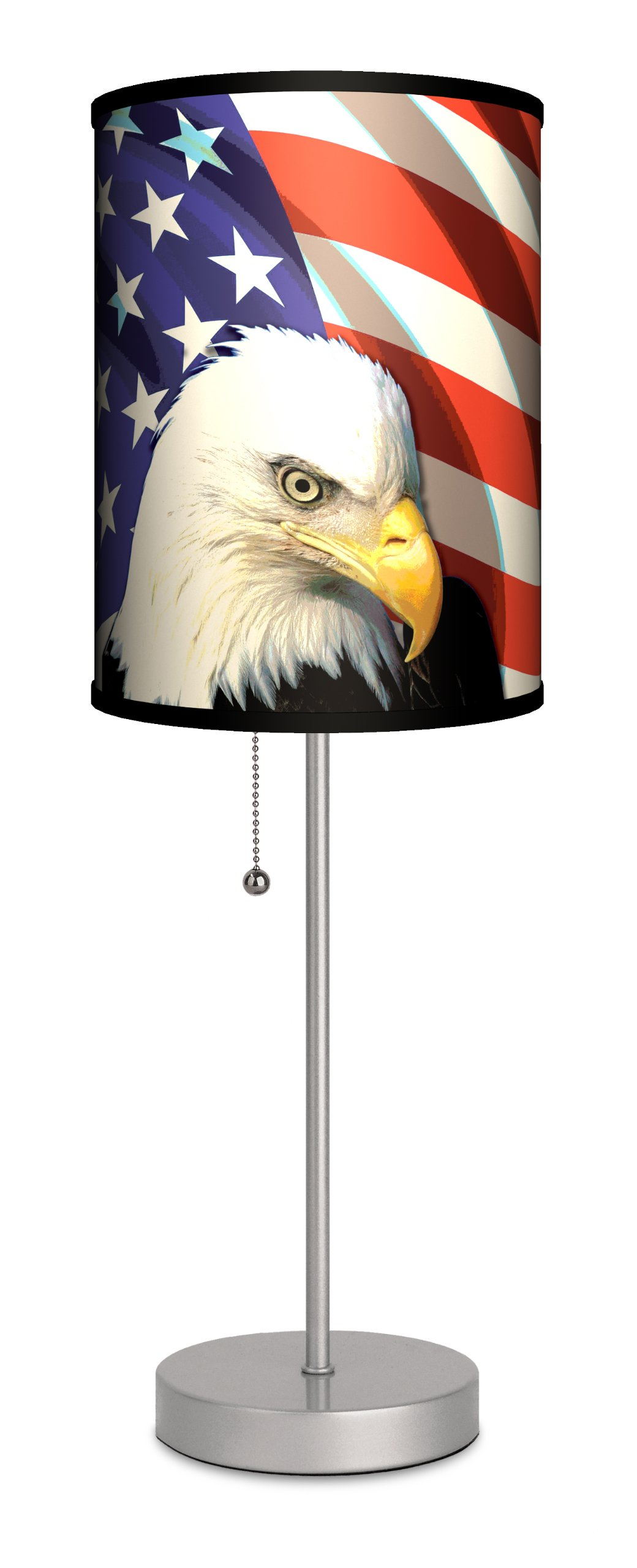 Lamp-In-A-Box SPS-TRV Travel ''Eagle and Flag'' Sport Silver Lamp
