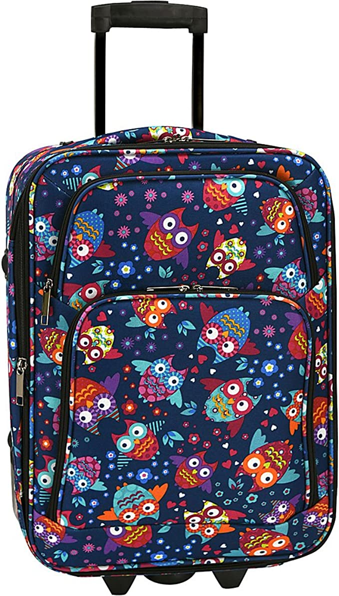Elite Luggage Owls Carry-on Rolling Luggage