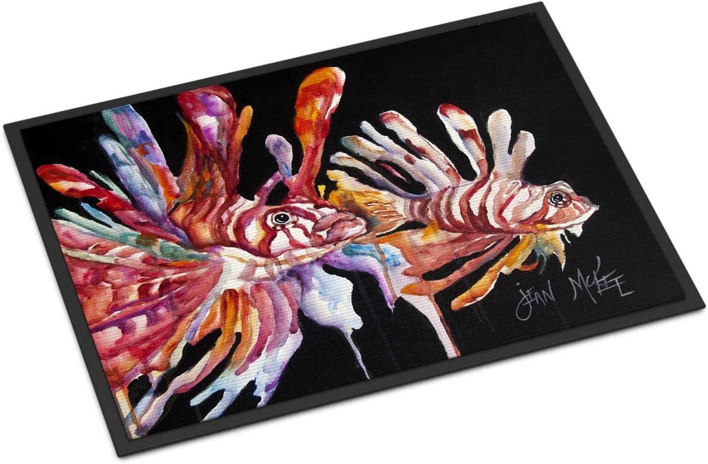 Caroline s Treasures JMK1114JMAT Lionfish Indoor or Outdoor Mat 24×36, 24H X 36W, Multicolor