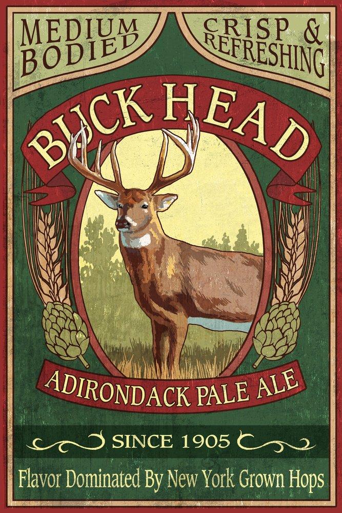 【数量は多】 The – Adirondacks、ニューヨーク州 – Print Art BuckヘッドAle Vintage Sign 9 x 12 Art Print LANT-35487-9x12 B00N5CBOBE 12 x 18 Art Print 12 x 18 Art Print, ふらわーあんどぐりーんheh:5ae8e21f --- ciadaterra.com
