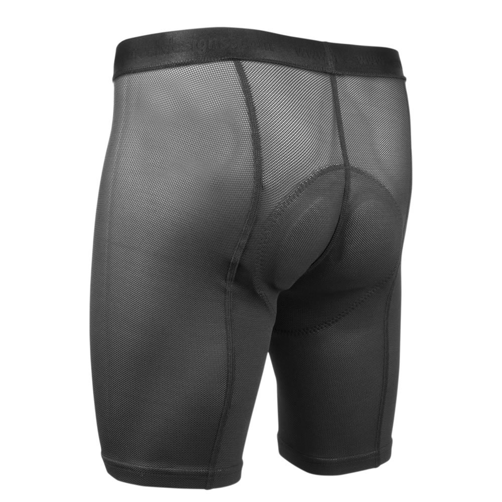 Aero Tech Designs Elite Air Gel Men's Padded Cycling Underliner,Black,Medium by AERO|TECH|DESIGNS (Image #2)