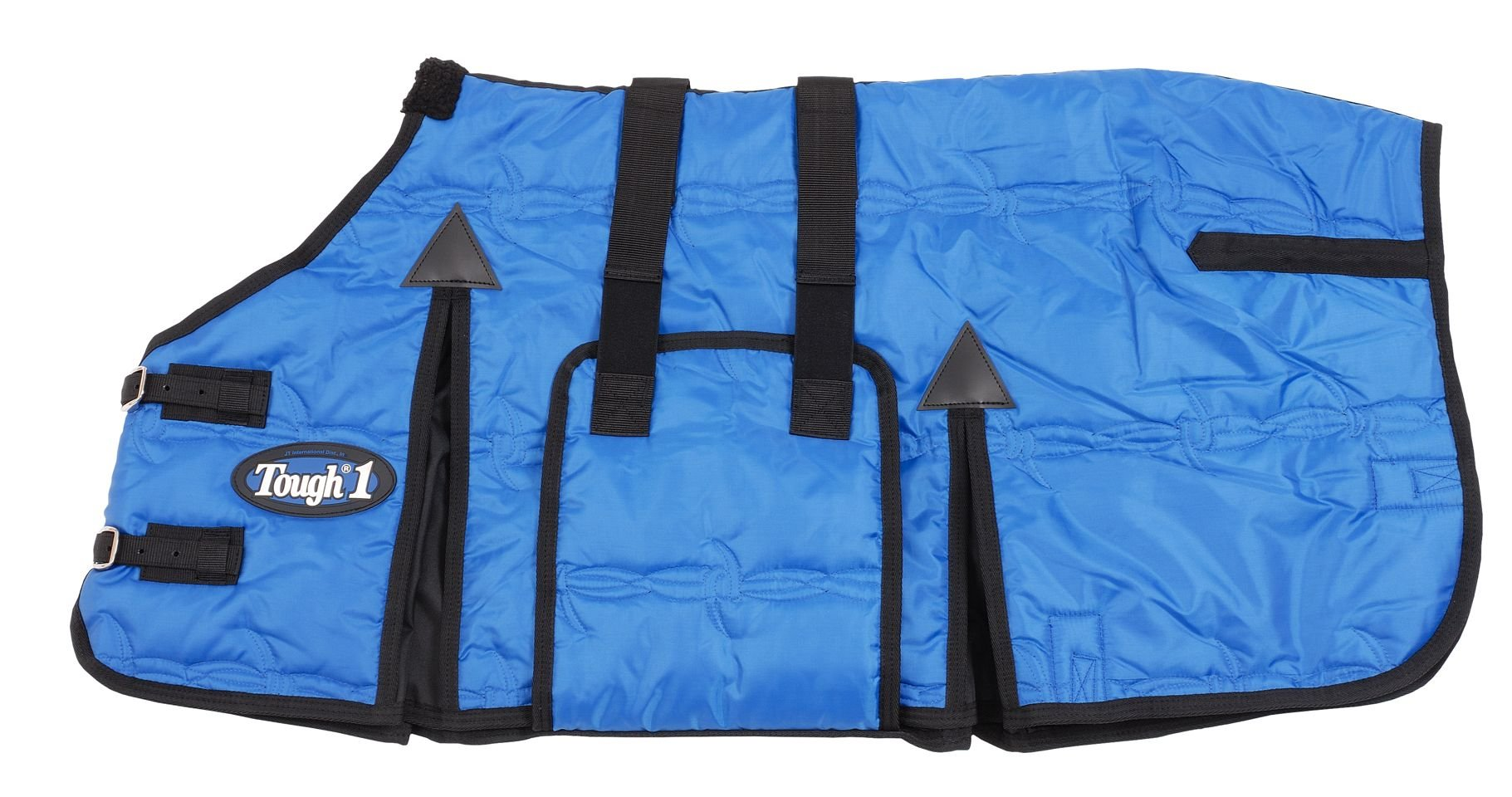 Tough 1 600D Miniature Stable Blanket with Belly Wrap, Royal Blue, 36-Inch