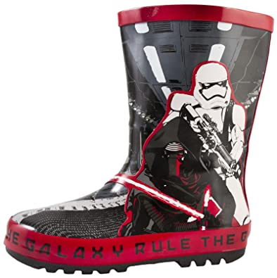 Star Wars Wellington Boots Boys Darth Vader Wellies Size UK7-1