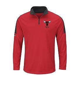 "Chicago Bulls NBA majestuoso ""Estado"" 1/4 cremallera suéter camisa casebomb Base"