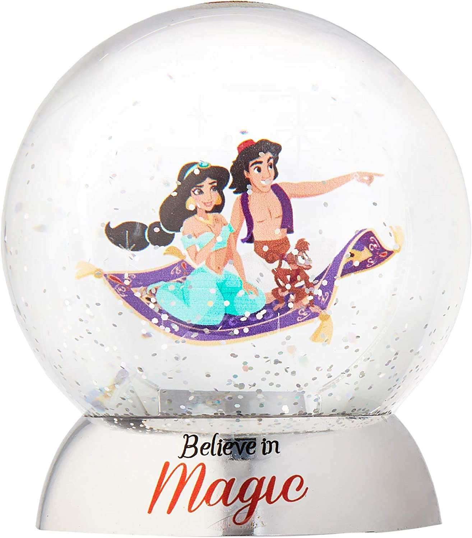 Department 56 Disney Aladdin Waterdazzler Waterball, 4.5 Inch, Multicolor