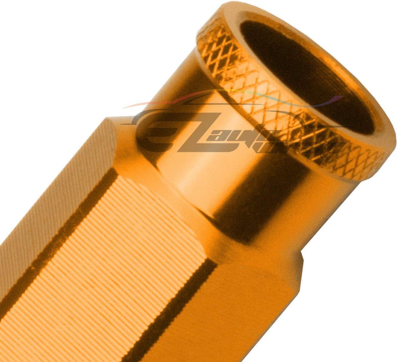 EZAUTOWRAP Silver 20 PCS M12x1.25 Lug Nuts Short 50mm Tuner Open End Aluminum Wheels Rims Cap WN01