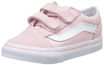 aa82679b81ee Vans Toddler Old Skool V VN0A344KQ7K (Suede Canvas) Chalk Pink True White