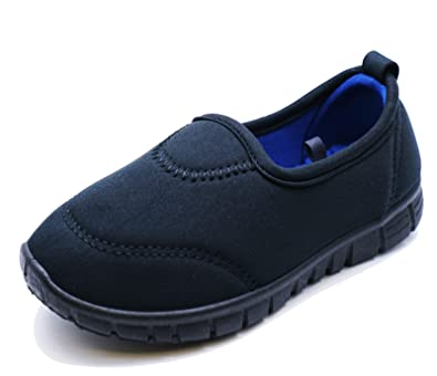 0bd08b638e HeelzSoHigh Girls Boys Kids Childrens Black Slip-On School Plimsolls Pumps  Trainers Shoes Sizes 6