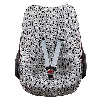 JANABEBE Funda para Bebé Confort Maxi-cosi Pebble (Black Rayo)