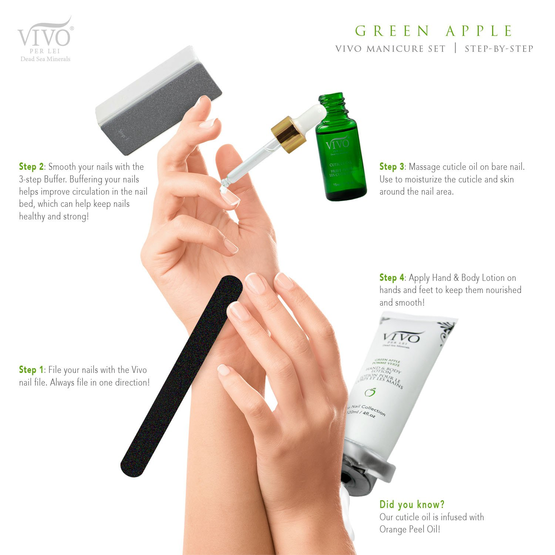 Amazon.com : Vivo Per Lei Exquisite Manicure Kit, Salon-Quality ...