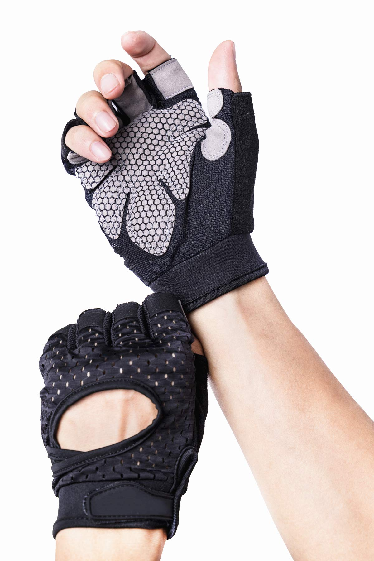 Xiaoai Breathable Ultralight Weight Lifting Sport Gloves, Gym Workout Exercise Gloves Support for Powerlifting, Cross Training, Fitness, Bodybuilding, Best for Men & Women