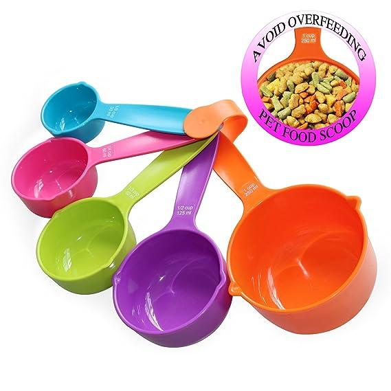 Amazon.com: rypet Pet Food Scoop Juego de 5 – Juego de tazas ...
