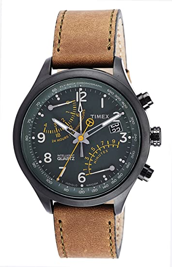 973787efd11e Buy Timex Intelligent Quartz Analog Green Dial Men s Watch - T2P381 Online  at Low Prices in India - Amazon.in