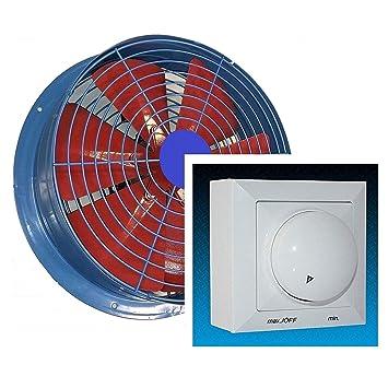 550mm Ventilador industrial Ventilaci/ón Extractor aspiracion mura pared
