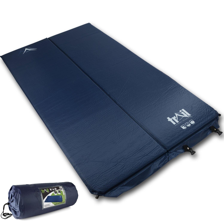 Vibrant Globe Doppelte selbstaufblasende Campingmatte Campingbett Aufblasbare Schlafmatratze