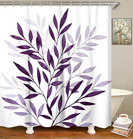 """Leaves Shower Curtain 71/"""" x 71/"""""""