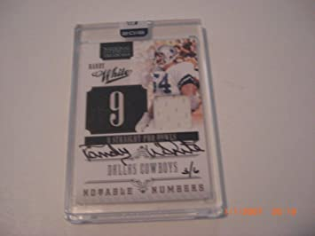 af40e5a65 Randy White 2016 Panini Honors Notable  s Game Used Jersey Auto 3 6 Signed