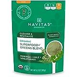 Navitas Organics Superfood+ Greens Blend for Detox Support (Moringa + Kale + Wheatgrass), 6.3oz Bag, 30 Servings…