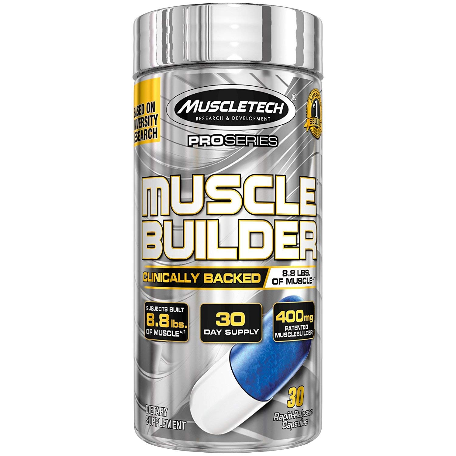Muscle Builder | MuscleTech Muscle Builder | Muscle Building Supplements for Men & Women | Nitric Oxide Booster | Muscle Gainer Workout Supplement | 400mg of Peak ATP for Enhanced Strength, 30 Pills