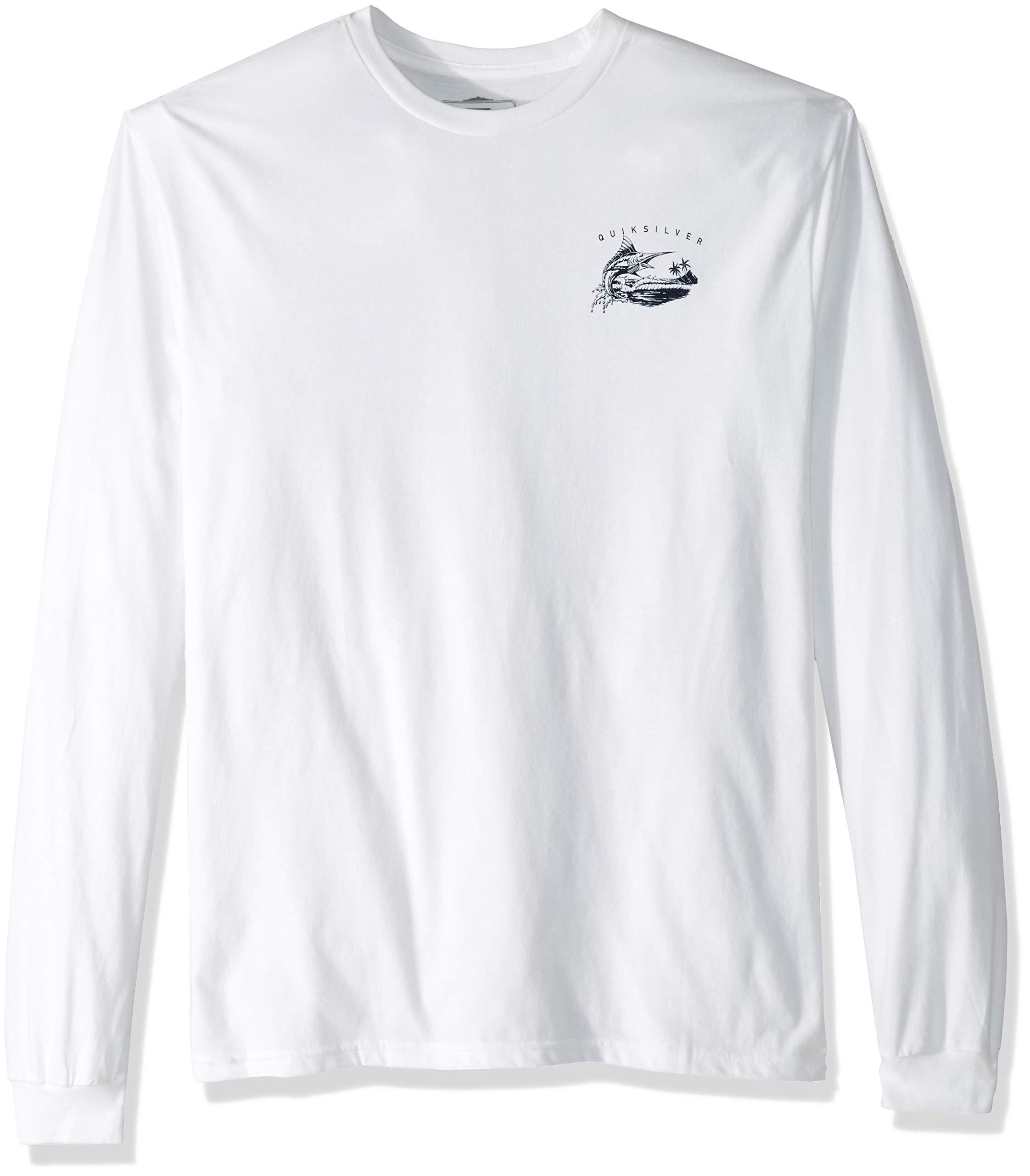 Quiksilver Men's Jumper Long Sleeve TEE Shirt, White, L