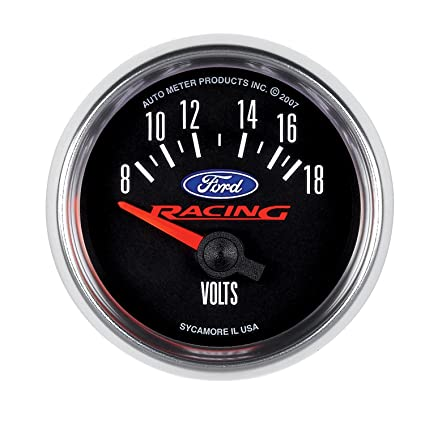 Amazon com: Autometer Ford Racing 52mm Short Sweep Electronic 8-18V