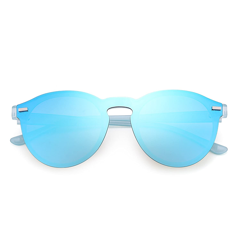 JIM HALO HALO HALO Polarisiert Randlos Sonnenbrille Reflektierend Ein Stück Rund Spiegeln Brillen für Damen Herren B07171C4VG Sonnenbrillen d4cc20