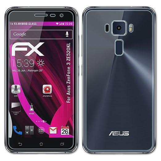 15 opinioni per Asus ZenFone 3 (ZE520KL) Pellicola Vetro- Set di 1 atFoliX FX-Hybrid-Glass con