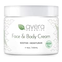 Natural Face and Body Cream Moisturizer – Organic Aloe Vera – Lotion for Dry Skin...