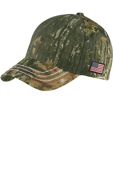 Joe s USA(tm - Mossy Oak Camouflage Caps with Embroidered American Flag cd85cb5c9e99