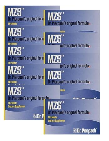 Melatonin MZS Sleep Disorder & Reversal of Macular Degeneration 60 Count (10 pack - 600