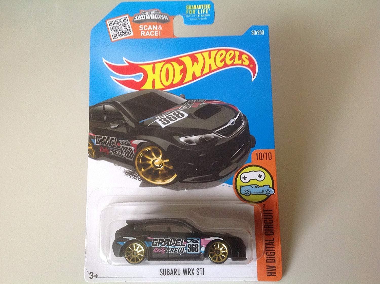 2016 HW Digital Circuit Hot Wheels Subaru WRX STI Exclusive 30//250 Black