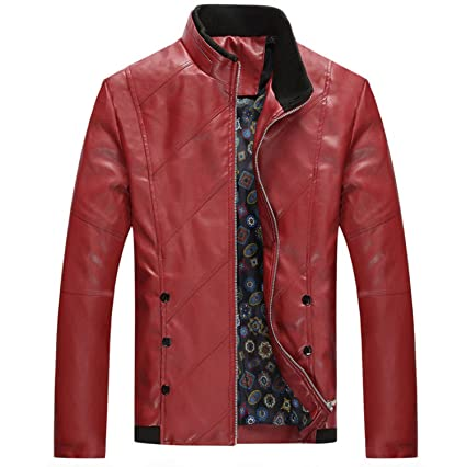 Kissing Fire Mens Leather Jacket Biker Men Jacket Fashion PU ...