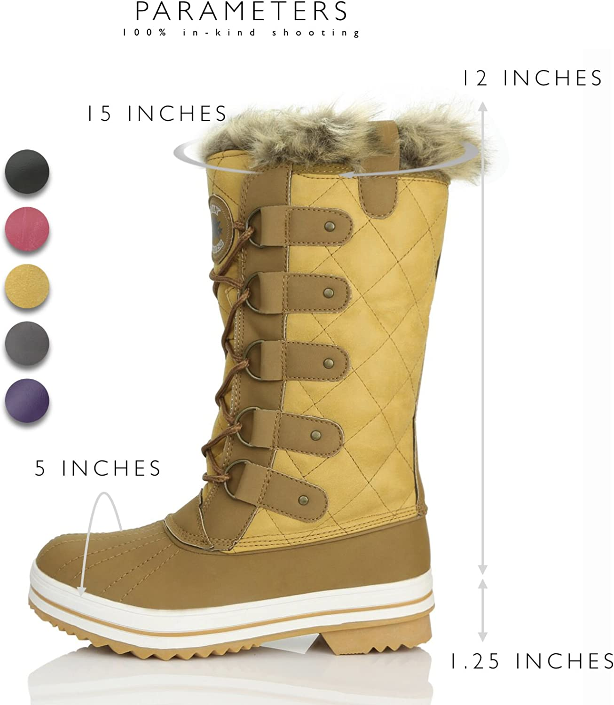 Fur Calf Boots Mid Arctic DailyShoes Snow Warm Resistant Women's Eskimo Water jR35cLS4Aq