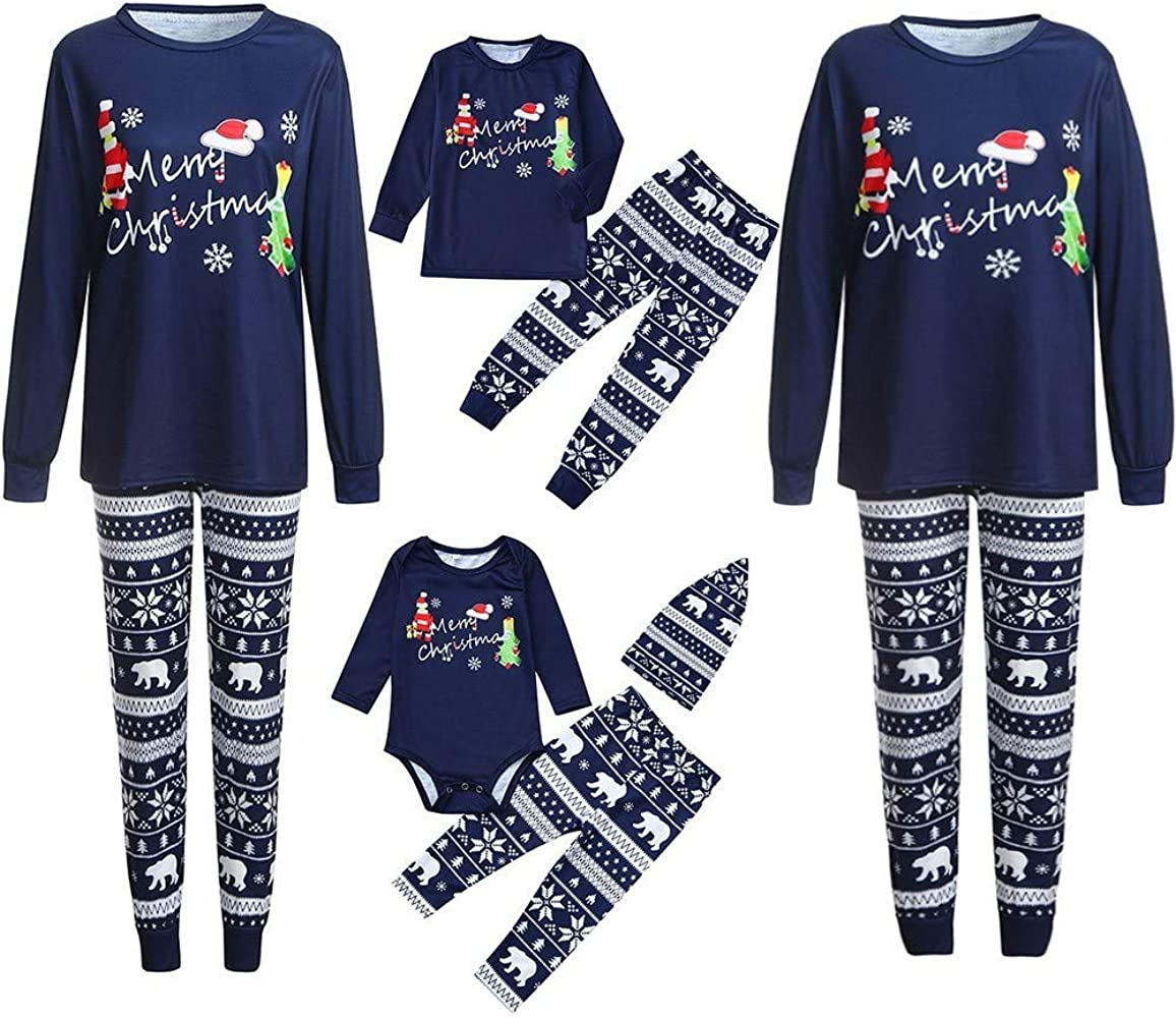 Pijamas de Navidad Familia Conjunto Pantalon y Top Pijamas Mujer ...