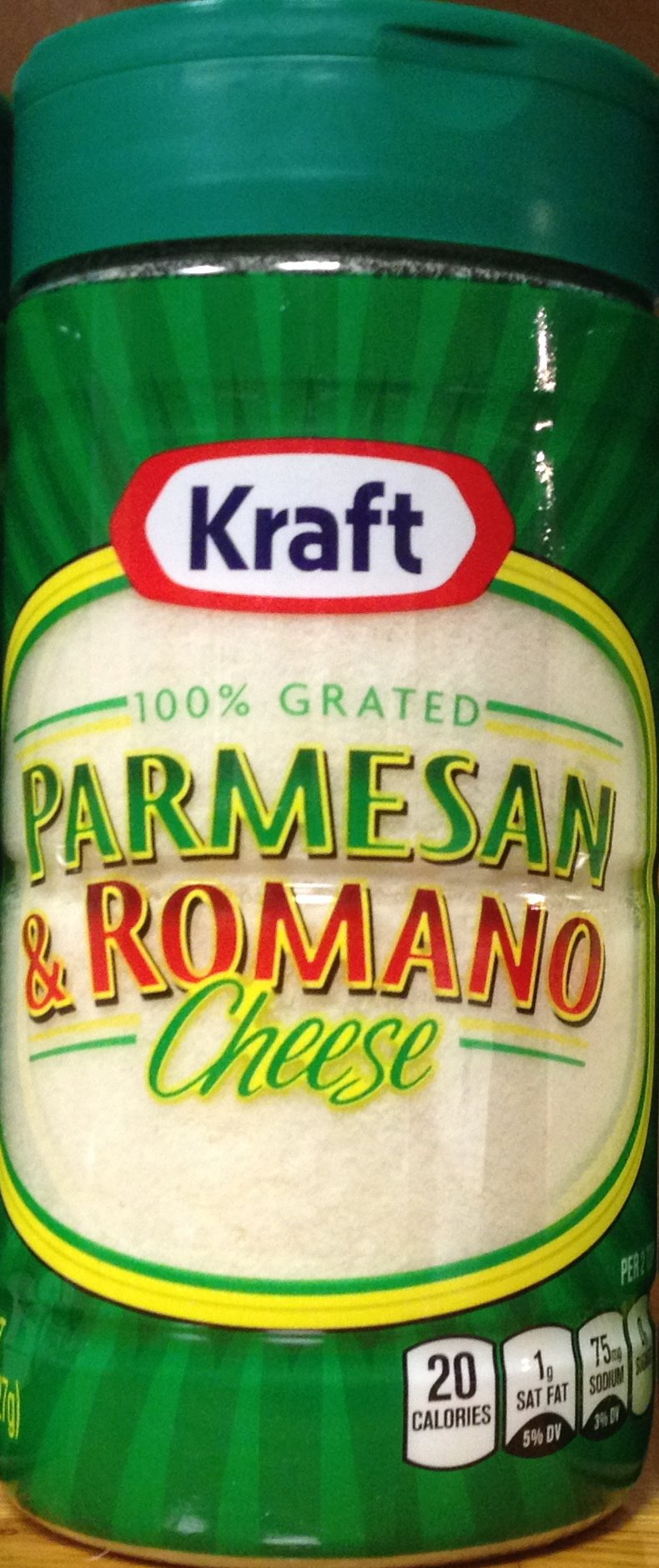 Kraft 100% Grated PARMESAN & ROMANO Cheese 8oz. (5 Pack)