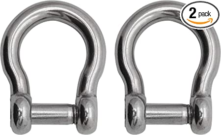 1//2 Extreme Max 3006.8414 BoatTector Stainless Steel Bow Shackle with No-Snag Pin