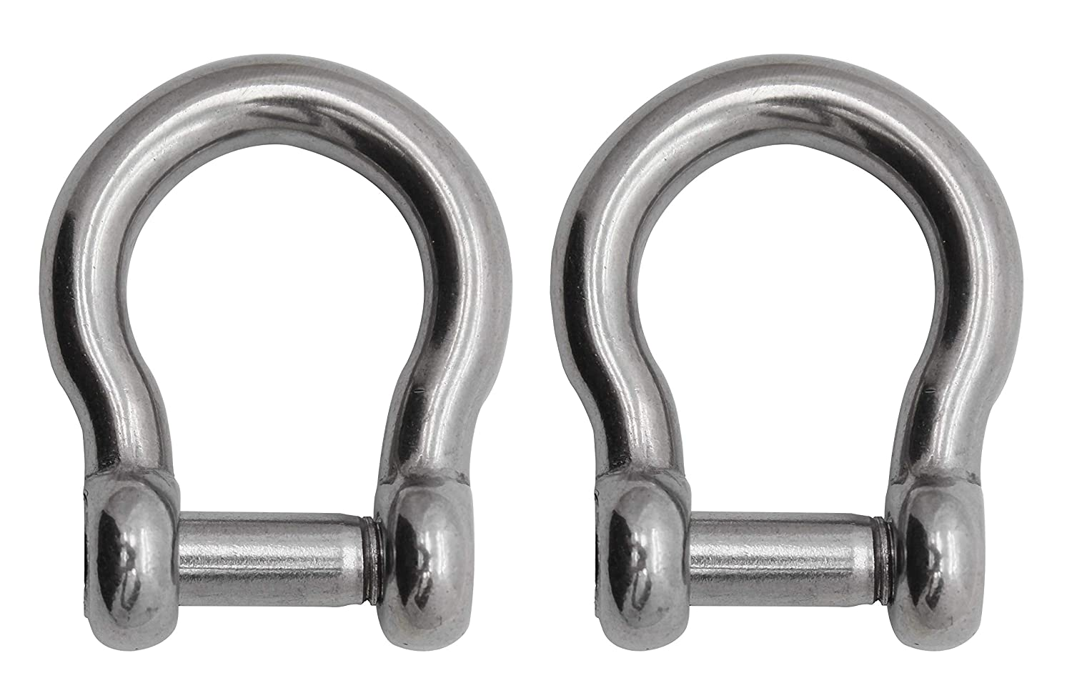 Extreme Max Silver Standard 3006.8405 BoatTector Stainless Steel Bow Shackle with No-Snag Pin-1//4