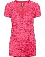 Next Level NL6540 Ladies Crossover V-Neck - Shocking Pink - XL