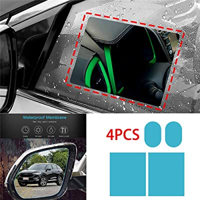 EZoneTronics Anti Fog Film Car Rear View Mirror Waterproof Film Protective Film Anti Glare Rain-Proof Anti Water Mist: Automotive