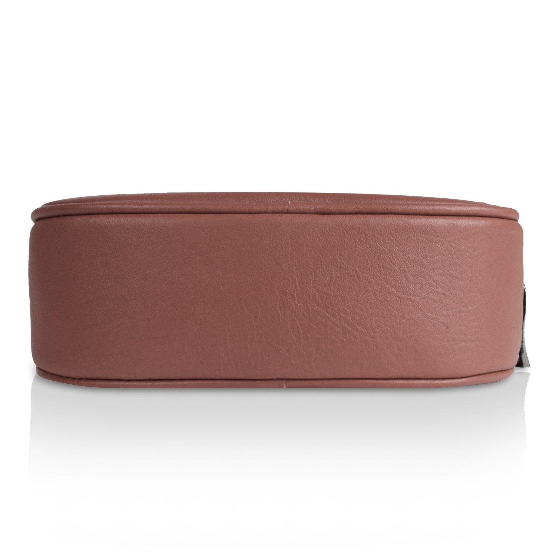 Glamexx24 magväska äkta läderväska bältesväska handväska tillverkad i Italien Caffee