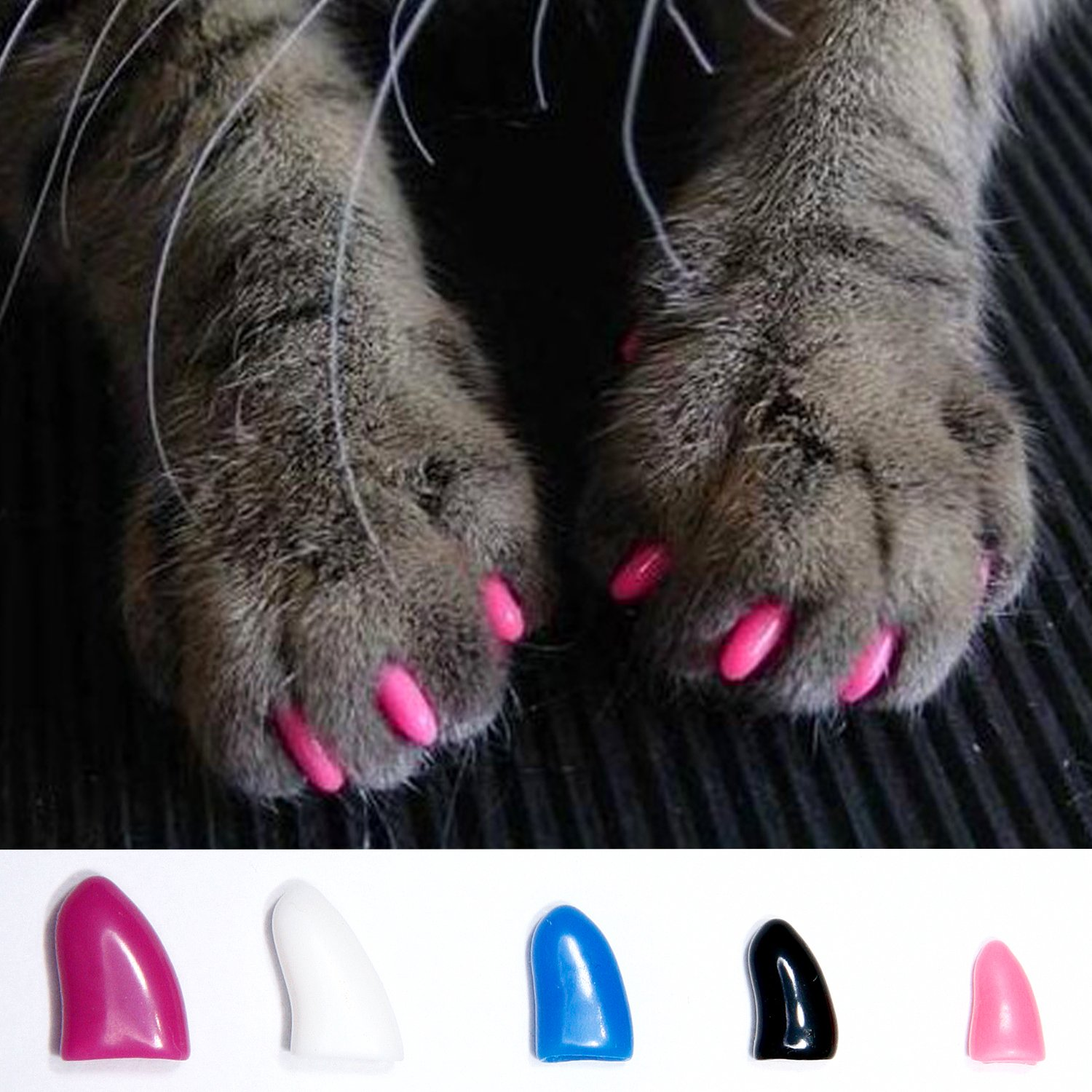 Pet Dog Cat Nail Claw Caps Scratch Stopper Fashion Accessory Pack Of ...