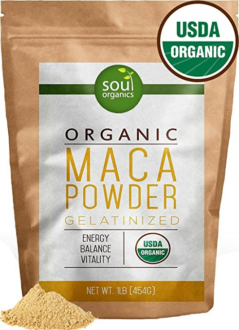Product thumbnail for Soul Organics Organic Maca Powder From Maca Root