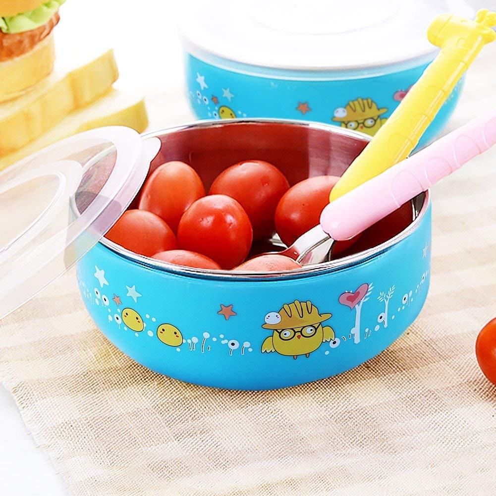有名ブランド [Baby BPA Mate] [Baby Mate 2PCS Toddler Bowls Steel Stay with Suction - Detachable Double Layer Baby Stainless Steel Bowl with Lid (12oz/350ml, Yellow & Blue) - BPA Free Stay Put Suction Bowls for Baby - Dinnerware for Kids] (並行輸入品) 2PCS - Each 12oz/350ml - Stainless Steel 2PCS: BLUE Suction Bowls - Detachable Double B07HDC38TG, 清家石材工業:b08dcc3d --- a0267596.xsph.ru