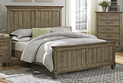 Rustic Driftwood Finish Bedroom Furniture With Or Without Storage    Sylvania (Cal King Bed W