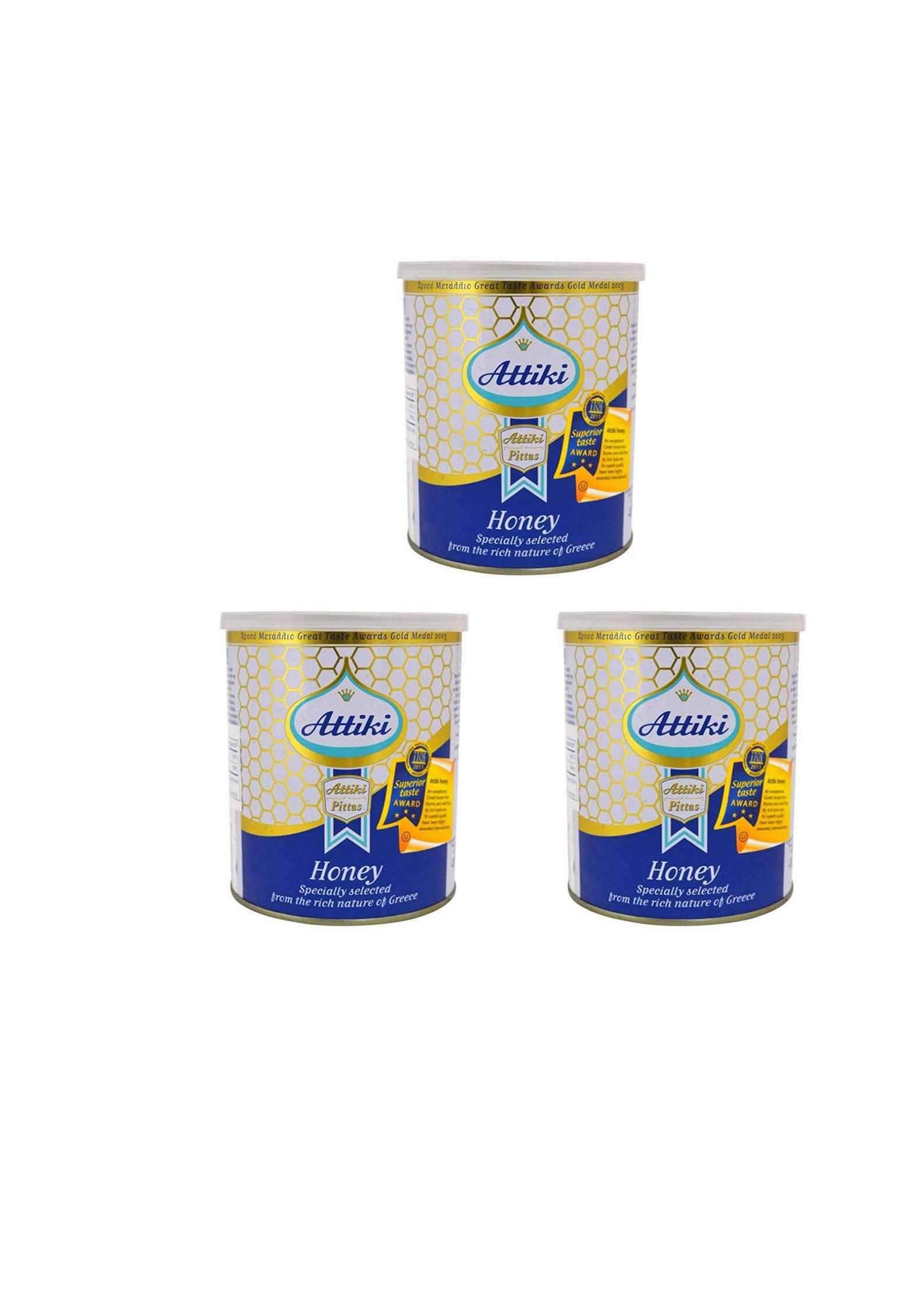 Attiki, Greek Honey 1000g (2.2lb) CAN (3 pack)