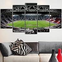 WZYWLH 5 Pezzo Canvas Print Poster Lo Stadio Wall Art Home Decor Juventus Wall Quadro Quadro Quadri per Soggiorno