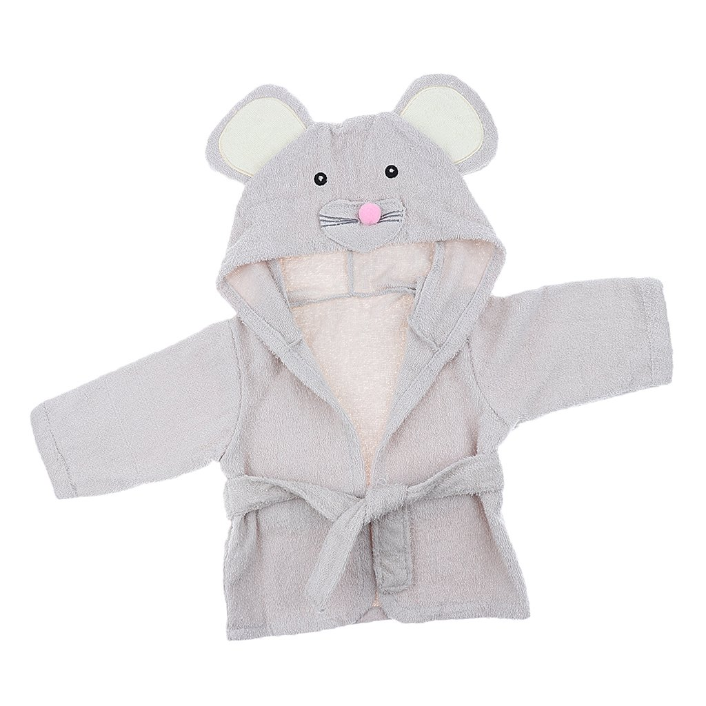 Baoblaze Baby Mädchen Jungen Bademantel Kleinkind Säugling Schlafanzüge Morgenmantel Kapuze Badetuch Handtuch