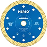 HERZO Diamond Cutting Disc 4-1/2 inch, Diamond Saw Blade for Angle Grinder Cutting (Full)